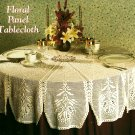 W015 Crochet PATTERN ONLY Round Floral Panel Tablecloth Pattern - Christmas