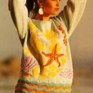 X108 Knit PATTERN ONLY Tropical Fish and Under the Sea Sweater Pattern