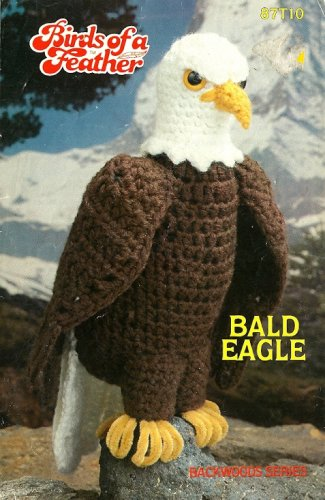 W012 Crochet PATTERN ONLY Birds of a Feather - Bald Eagle Toy Pattern American