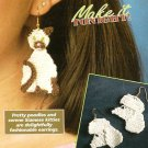 Y213 Crochet PATTERN ONLY Siamese Cat & Poodle Dog Earrings or Ornament Patterns
