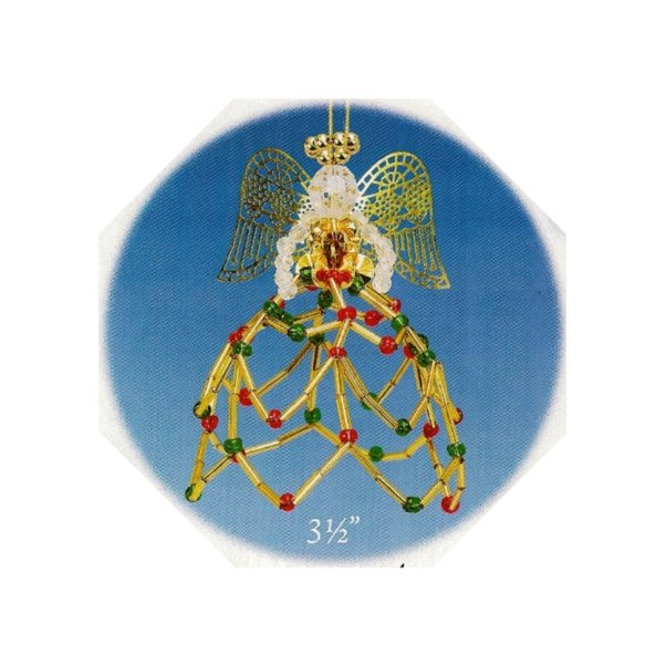 Y622 Bead PATTERN ONLY Beaded Christmas Angel Pattern Ornament