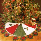 Y262 Crochet PATTERN ONLY Poinsettia Flair Christmas Tree Skirt Pattern