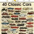Y923 Cross Stitch PATTERN Book ONLY Jeanette Crews 40 Classic Cars One Nighters