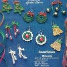 Y131 Crochet PATTERN ONLY Christmas Earrings Wreath Bell Tree Snowflake Patterns