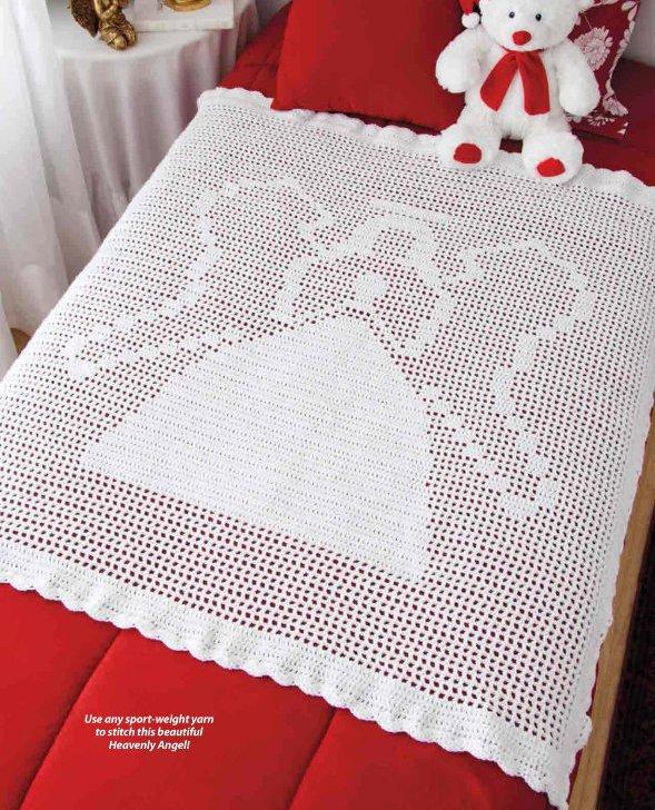 Y920 Crochet PATTERN ONLY Heavenly Angel Christmas Afghan Pattern