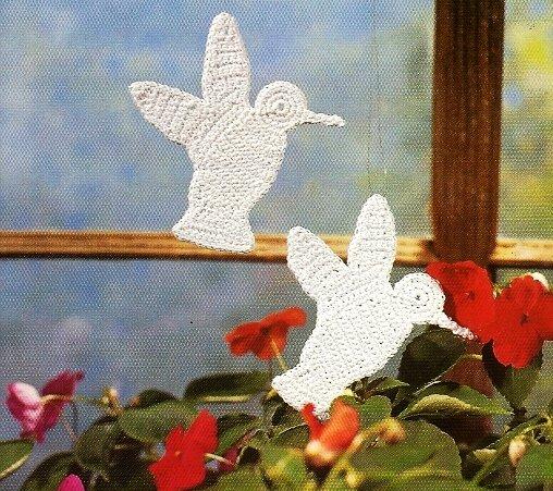 X450 Crochet PATTERN ONLY Hummingbird Ornament Pattern