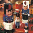 X576 Plastic Canvas PATTERN ONLY Toy Soldier Quartet & Monogram Bookmarks