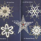 Y495 Crochet PATTERN Book ONLY Winter Jewels 16 Snowflakes Southmaid Christmas