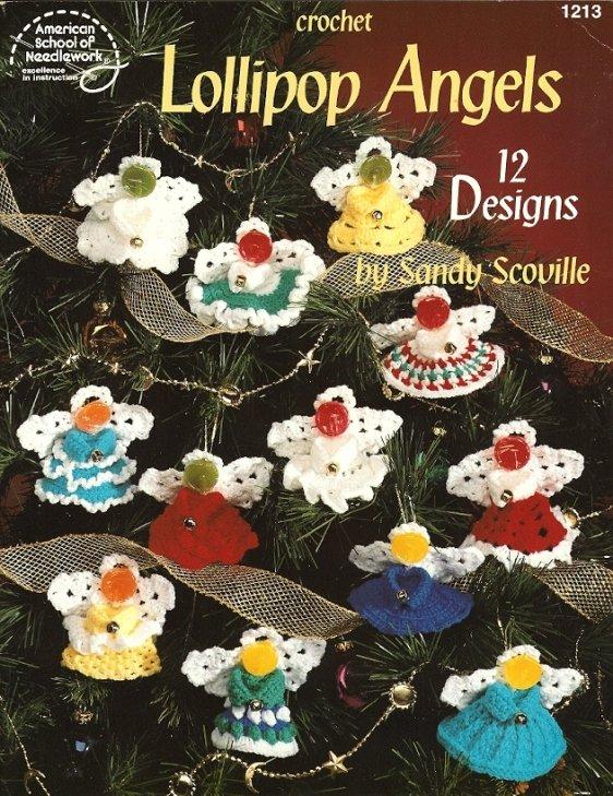 X867 Crochet PATTERN Book ONLY Lollipop Angels Christmas Ornaments