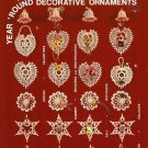X703 Crochet PATTERN ONLY Heirlooms Year 'Round Decorative Ornament Christmas