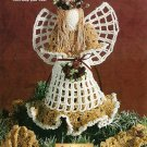 Y447 Crochet PATTERN ONLY Country Angle Tree Topper Christmas Ornament Pattern