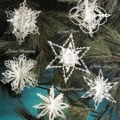 Y671 Crochet PATTRN ONLY 6 Dimensional Snowflake Christmas Ornament Patterns