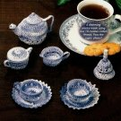 Y733 Crochet PATTERN ONLY Miniature Tea Service Set Tea Pot Creamer Cup Patterns