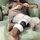 X841 Crochet PATTERN ONLY Fuzzy Boot Slippers