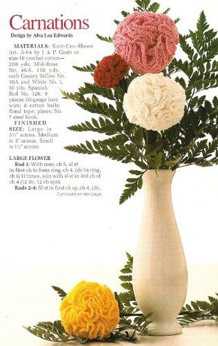 Y391 Crochet PATTERN ONLY Carnation Flower in 3 Sizes Pattern