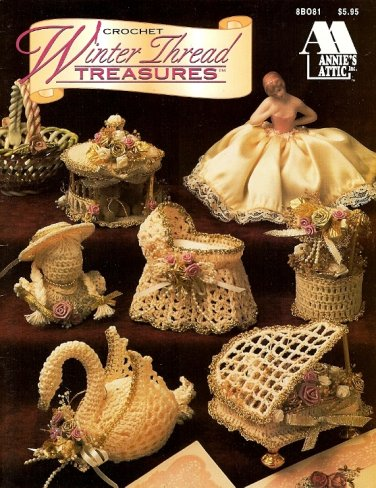 Y679 Crochet PATTERN Book ONLY Winter Thread Treasures 16 Christmas Ornaments