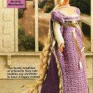Y400 Crochet PATTERN ONLY Rapunzel Fashion Doll Barbie Gown Dress Pattern