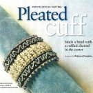 X563 Bead PATTERN ONLY Beaded Pleated Cuff Bracelet Pattern