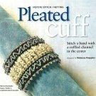 X563 Bead PATTERN ONLY Beaded Pleated Cuff Bracelet Pattern