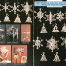 X640 Crochet PATTERN ONLY Snowflakes & Bells Christmas Ornaments