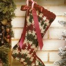 Y422 Crochet PATTERN ONLY Victorian Mistletoe Christmas Stocking Pattern