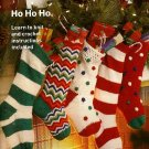 Y948 Knit PATTERN ONLY Christmas Stockings Knit Stripes, Ripple & Crochet Bobble