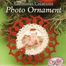 Y442 Crochet PATTERN ONLY Christmas Creations Photo Ornament Pattern