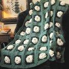 X158 Crochet PATTERN ONLY 3 Afghan Pattern Gardenias Sunflowers Garden