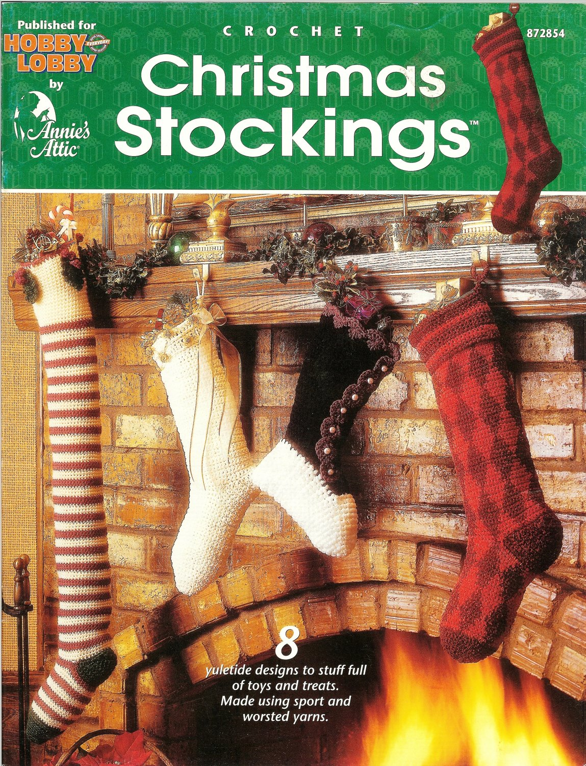 X501 Crochet PATTERN Book ONLY Christmas Stockings 8 Designs Ornaments