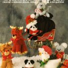 X489 Crochet PATTERN Book ONLY & Knit Santa's Helpers Reindeer Mouse Panda Goose