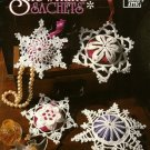 X287 Crochet PATTERN Book ONLY Snowflake Sachets Pattern Ornaments Gifts