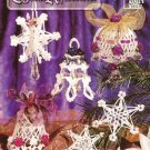 X473 Crochet PATTERN Book ONLY Crystal Reflections 13 Star Globe Bell Ornaments