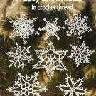 X995 Crochet PATTERN Book ONLY Lacy Snowflakes Christmas Ornaments