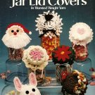 Y049 Crochet PATTERN Book ONLY Holiday Jar Lid Covers 7 Designs in Worsted Weight Yar