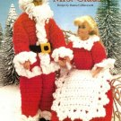 X865 Crochet PATTERN ONLY Santa & Mrs. Santa Fashion Doll Barbie Christmas