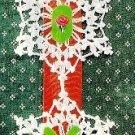W464 Crochet PATTERN ONLY Joy Snowflake Christmas Ornament Pattern