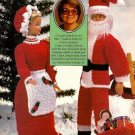 Y764 Crochet PATTERN ONLY Santa & Mrs. Claus Fashion Doll Outfit Patterns