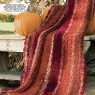 Y837 Crochet PATTERN ONLY Thanksgiving Boucle Afghan Pattern
