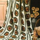 X902 Crochet PATTERN ONLY Country Sunflower Afghan