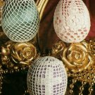 Y150 Filet Crochet PATTERN ONLY 3 Easter Eggs + Bonus, Cross Net Filet