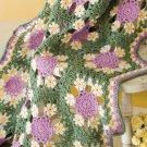 X656 Crochet PATTERN ONLY Josalynne's Garden Afghan Pattern Flower