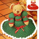 Y221 Crochet PATTERN ONLY Topsy-Turvy Bear & Doll Toy Pattern