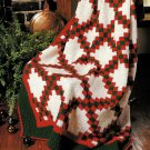 X527 Crochet PATTERN ONLY Double Irish Chain Afghan Pattern
