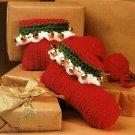 Y708 Crochet PATTERN ONLY Jingle Bells Slippers & Teen Holiday Hats Patterns