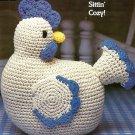 Y256 Crochet PATTERN ONLY Hetty Hen Sittin' Chicken Toy Doll Pattern