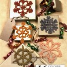 Y965 Crochet PATTERN ONLY 5 Colorful Snowflakes Christmas Ornament Patterns