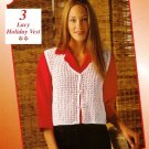 Y856 Crochet PATTERN ONLY Ladies Lacy Holiday Vest Pattern