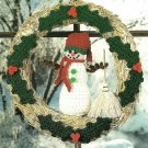 X739 Crochet PATTERN ONLY Snowman Wreath & Christmas Mice Ornaments