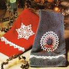 X905 Crochet PATTERN ONLY Snowflake, Wreath & Angel Ornament + Edging