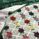 X942 Crochet PATTERN ONLY Fleming Flower Motif Afghan Throw